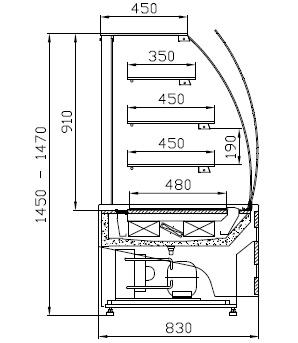 WCh-1/C 095 ESTERA - Confectionary counter
