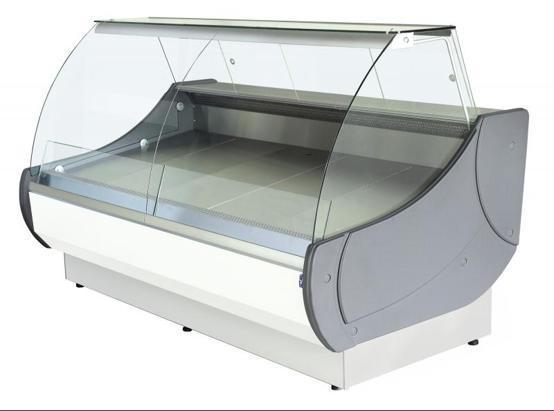 WCh-7/1 1,3 - Refrigerated counter with curved glass for ext. aggr.