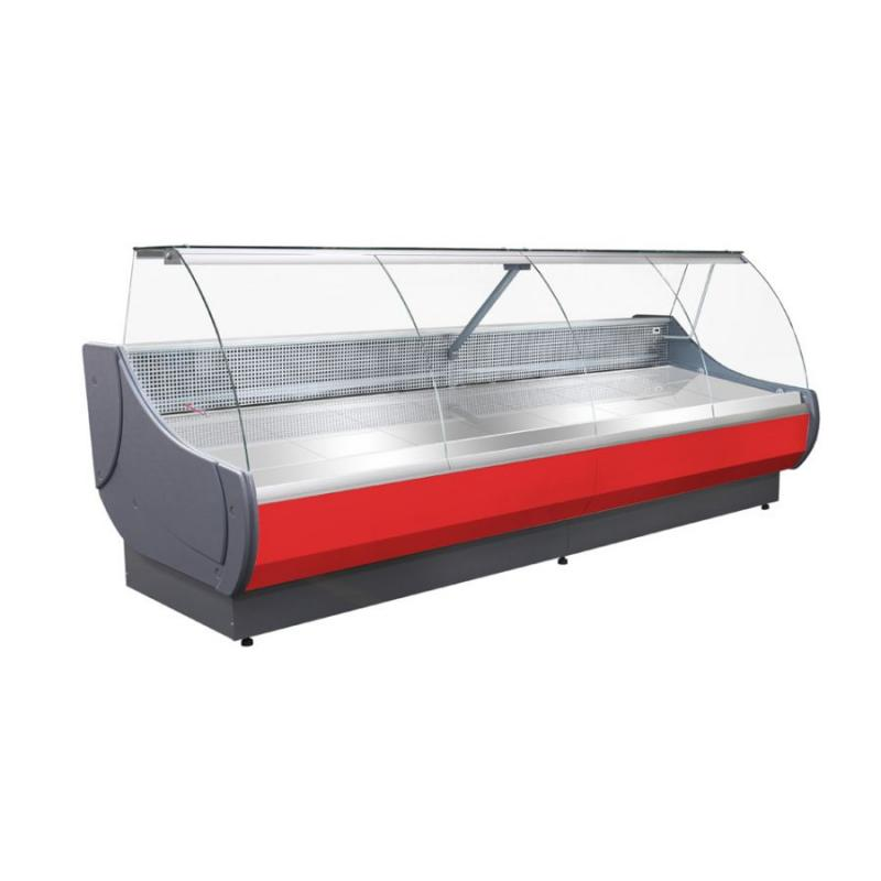 WCh-7 1,3 OFELIA - Refrigerated counter with curved glass