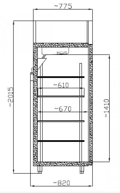 SMR 700 GN - Freezing cabinet