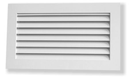 Curved blade grille