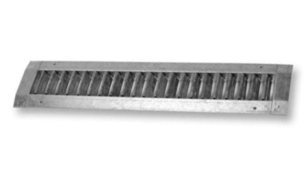 Single deflection grille for circular ducts