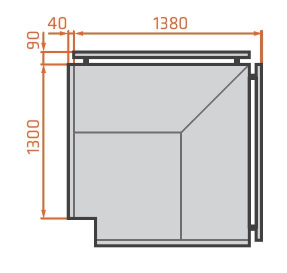 LCT Tucana 02 EXT90° - External corner counter 90°