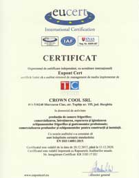 Certificate ISO-14001