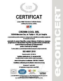 Certificat ISO-45001